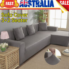 3 2 Seater Stretch Sofa Couch Lounge L Shape Cover Washable Slipcover Protector