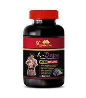 improve mood and wellness, L-DOPA 99% Extract 350mg, sleep support pills 1B