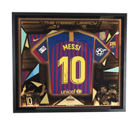 Signed Lionel Messi FC Barcelona 2018 Shirt - Legacy Framed LED Light Display