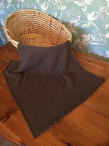 Heavenly Soft Genuine Mink Hair  baby blanket.  col. Dark Taupe