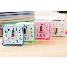 1x Modern Mini Quartz Clocks Travel Alarm Clock Bedroom Home Table Clock