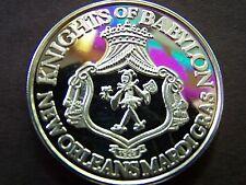 1982 Babylon SNOW WHITE+THE SEVEN DWARFS Fine Silver HR Mardi Gras Doubloon