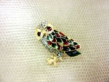 PIN BROOCH BIRD NEW VINTAGE CRYSTAL JEWELRY RHINESTONE CUTE LADY THAI COOL OWL