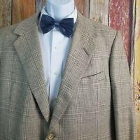 Oxxford Clothes Men's Onwentsia Linen Silk Blend Jacket Sport Coat 43 Regular