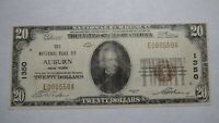 $20 1929 Auburn New York NY National Currency Bank Note Bill Ch. #1350 RARE!