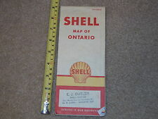 ONTARIO SHELL MAP GAS OIL ADVERTISMENT RARE OLD VINTAGE