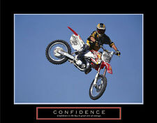 Dirt Bike Motocross Freestyle Racer CONFIDENCE Motivational POSTER Print