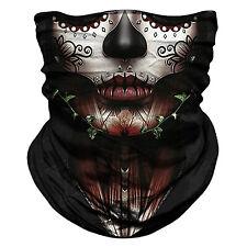 Summer Breathable Neck Gaiter Tube Bandana Scarf Face Cover Ear Loop Balaclava