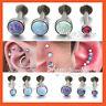 Opal Stud Internal Thread Ring Bar Nose Lip Ear Earrings Helix Tragus Piercing