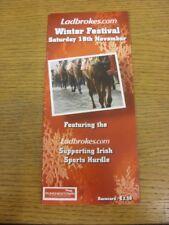 19/11/2011 PROGRAMMA CORSE di cavalli: Punchestown-Winter Festival, con il