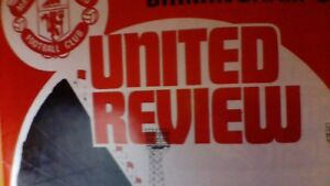 Manchester United v Birmingham City - 14 October 1972