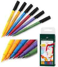 PITT Faber Castell Artist Brush Pens Marker BASICS 6pc Set Drawing Coloring