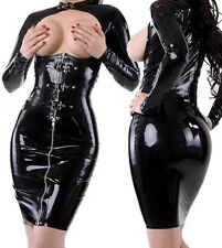 Stunning sexy faux latex/leather look dress - pole dancer fantasy (m7106)