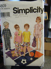 Simplicity 5809 Kid's Pajamas, Slippers & Sleeping Bag Pattern - Sizes 3-8