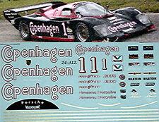 Porsche 962 COPENHAGEN #1 Brumos 1:24 Pegatina Adhesivo