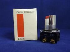 Cutler-Hammer 10250T502 Red Operator Pushbutton w/  Half Shroud