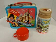 1979 Disney Magic Kingdom Lunch Box & Thermos With Tag & Paper Inside Free Ship!