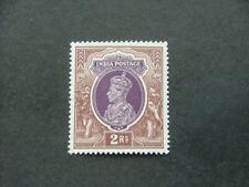 India KGVI 1937 2r purple & brown SG260 LMM