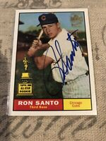 2001 Topps Archives On Card Autograph Issue Ron Santo Chicago Cubs HOF Rookie