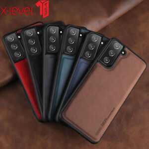 For Samsung Galaxy S21 S20 Plus Note 20 S21 Ultra Case Cover Classic Leather TPU
