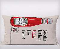 heinz ketchup Long Cushion Covers Pillow Cases Home Decor or Inner