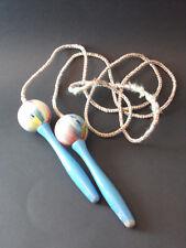 Vintage corde à sauter bois peint, jouet
