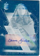 2016 Doctor Who Timeless Cyan Printing Plate Autograph Clare Higgins Ohila 1/1