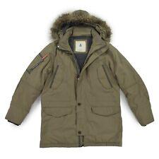 GAASTRA Herren Jacke XL 54 Parka Winterjacke gefüttert khaki Jacket Kapuze TOP