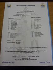 23/11/2005 Manchester City Reserves v Manchester United Reserves [At Sportcity]