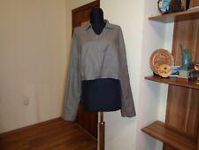 SARAH PACINI taupe enduit lin cropped zippé perfecto-taille 3