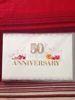 Clintons 50th Anniversary Card Free P&P