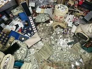 🔥MONEY VINTAGE HOARD 🔥 GOLD 90% SILVER BULLION 🔥 ESTATE LOT OLD US COINS