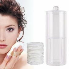 2 In 1 Acrylic Cotton Pad Bubs Swab Dispenser Holder Container makeup organiser