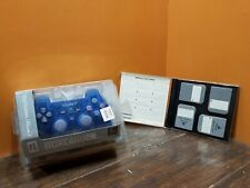 NEW! PlayStation PS1 Island Blue Dual Shock Controller 4 Memory Cards Video Game