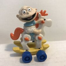 NICKELODEON TOMMY PICKLES Rocking Horse RUGRATS TOY Vintage PVC  - Hardees -1994