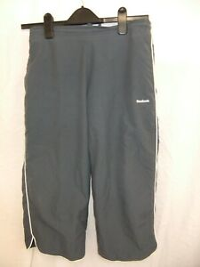 REEBOK 3/4 length gym bottoms trousers grey active wear Fitness size UK 10 (2)