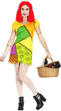 Ladies Sally Rag Doll Costume Halloween Fancy Dress Outfit 8-10-12-14 NEW