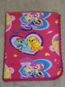 """TODDLER/TWIN QUILT - MY LITTLE PONY IN  FUSHIA PINK AND PURPLE - 48""""X56"""""""