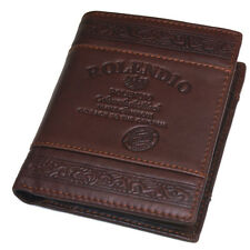 New Men's Leather Wallet 6 Credit Card Full Zippered Pocket Vintage Purse J312