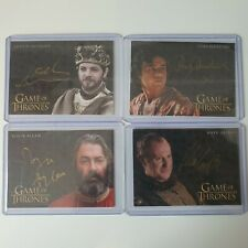 More details for  game of thrones inflexions  gold autograph auto signed cards lot ( 4 cards)