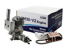 AGM30 30cc Gas Gasoline Engine w/CDI Muffler f.RC Model VS DLE30+2 Year Warranty