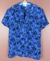 TB06395- NEW PENDLETON Women's Silk Short Sleeve Blouse Multicolor Floral 16