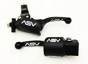 ASV UNBREAKABLE F3 SHORTY BLACK CLUTCH BRAKE LEVERS W/ DUST COVERS CRF 250R 450R
