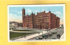 Omaha,NE Nebraska,The BEE building,City Hall and Corner of Court House Lawn
