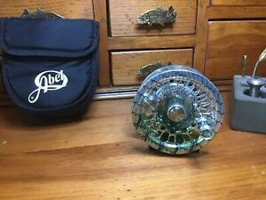 ABEL SUPER 8 FLY REEL, 8/9, BONEFISH GRAPHICS WITH MATCHING COMPONENTS, NEW