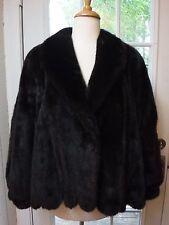 Rezzo North Bay Brown Genuine Mink Fur Long Sleeve Coat Women's L (10/12) *Mint*