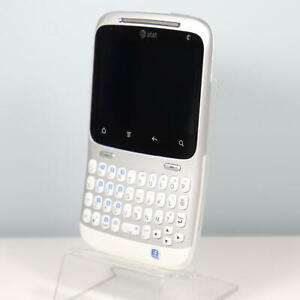 RARE Facebook HTC Status ChaCha A810a (AT&T) QWERTY Cell Phone ASIS