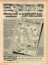 1966 ADVERT Emenee Toy Factory Jeep National Comic Superman Batman
