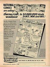 1966 ADVERT Emenee Toy Factory Jeep National Comic Superman Batman
