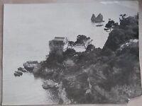 vecchia foto originale veduta TORRE E I DUE FRATELLI DI VIETRI SUL MARE Salerno